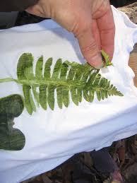leaf print after hammering removing the leaf bits