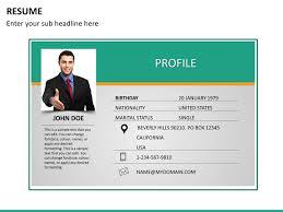 Cv Powerpoint Presentation Templates Resume Ppt Presentation Resume