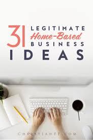 31 Legitimate Profitable Home Based Business Ideas 2019
