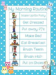 Preschool Wall Charts 4 Owls Themed Daily Routine Charts Preschool 3rd Grade Routine Activity