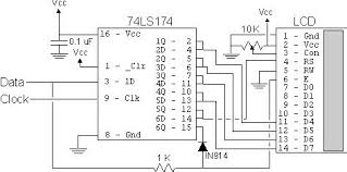 build your own 2 wire lcd interface using the pic16c84 build your own 2 wire lcd interface using the pic16c84 microcontroller schematic