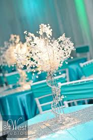 dazzling ideas sweet sixteen centerpieces 16 using crystal trees in tiffany blue white and silver diy a