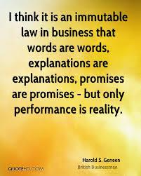 Harold S Geneen Business Quotes Quotehd