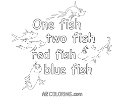 One Fish Two Fish Red Fish Blue Fish Coloring Pages Two Fish Red ...