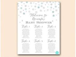 Winter Baby Shower Table Seating Chart Printable Chart Find Your Seat Snowflakes Baby Shower Poster Winter Wedding Tlc579 Tlc491 Bs491