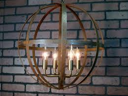 rustic wine barrel chandelier