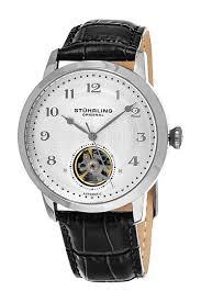 stuhrling men s perennial 781 automatic alligator embossed image of stuhrling men s perennial 781 automatic alligator embossed genuine leather watch