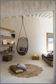 furniture alluring rustic bedroom with cord diy hanging chair also small pillows alluring rustic bedroom