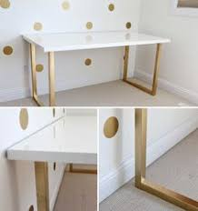 paint lacquer furniture. And A Gold Base Makes This White Lacquer Table...Inspiration To Use The Paint Furniture R