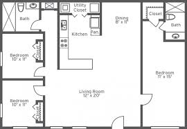 Modest Ideas 3 Bedroom Bathroom Apartments 2 Bedroom And Bathroom ...