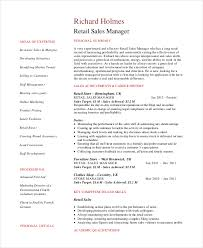 Retail Sales Manager Resume Outathyme Com