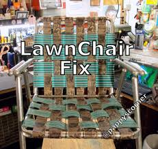 fix patio chair webbing crunchymustard