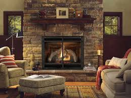 contemporary gas fireplaces ventless with brick walls