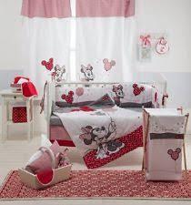 Minnie Mouse Crib Bedding | eBay & 4 Piece Baby Girls Crib Bedding Set Red Minnie Mouse Baby Bedding Set Adamdwight.com