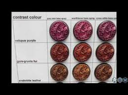 Games Workshop Paint Chart Games Workshop Contrast Paint Comparison Chart