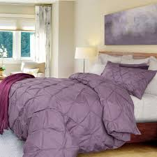 Floating Cloud Bed Pintuck Duvet Cover Set Purple Like A Cloud Floating On Top Of