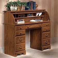 image of oak roll top desk design