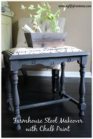 best images about decor repainted furniture inspirations on using chalk paint to redo a thrift store stool step by step tutorial farmhouse stool makeover chalk paint by diy furniture refinish chalk paint
