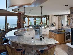 Groovy Angled Kitchen Island Design Ideas Also Curve Granite