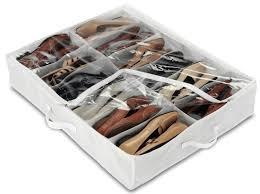 Underbed 12 Pair Shoe Storage Bag