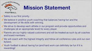 mission statement  southern marin youth football and cheer