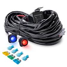 amazon com mictuning heavy duty 300w 2 circuit led light bar Rigid Industries Wiring Harness at Amazon Led Wiring Harness