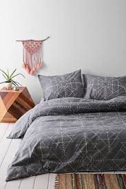 Bedroom:Beautiful Bedroom With Gold Magical Thinking Bedding Also White  Pillows And White Heardboard Plus