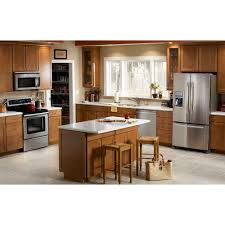 Kitchen Appliance Packages Canada Whirlpool 36 In W 197 Cu Ft French Door Refrigerator In