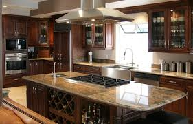 ... Chocolate Maple Glaze [M01]: large kitchen cabinets ...