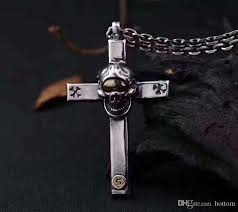 whole tq181231 31 2 925 sterling silver cross skull pendant necklace hot jewelry mens pendant necklaces turquoise pendant necklace from hottom