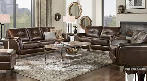 picture of cindy crawford palermo brown leather 3 pc living room from furniture