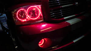 2006 dodge ram dual color red white led halo kit installed by advanced automotive concepts you