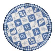 round nautical rugs. Round Nautical Rugs : Kas Hampton Blue 8 Ft X Area Rug