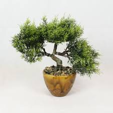 office bonsai. Bonsai Tree In Ceramic Pot, Artificial Plant Decoration For Office And Home 28cm #