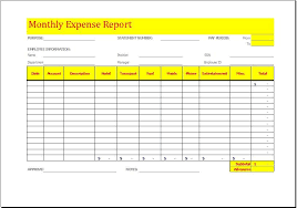 Free Printable Expense Report Forms Adorable Monthly Expense Report Charlotte Clergy Coalition