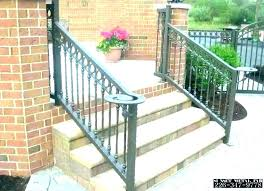 outdoor stair railing ideas exterior wood