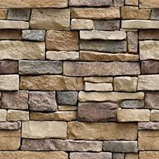 "Yancorp 18""x120"" <b>Stone</b> Brick Wallpaper Stick On Self-Adhesive ..."