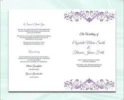 Wedding Booklet Template Wedding Program Template Free Premium Templates Wedding