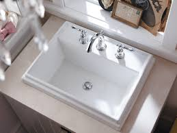 Rectangular Bathroom Sinks Kohler K 2991 8 0 Tresham Rectangle Self Rimming Bathroom Sink