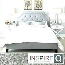 Grey Tufted Bed Gray Headboard Queen Frame Be – foundri.co