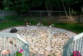 how to build a flagstone patio blain