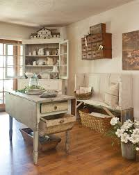 Rustic french country kitchens Small Woven And Wooden Baskets Scattered Around This Country Style Kitchen Look Amazing With The Rustic Furniture The Cottage Market Stunning Collection Of French Country Kitchens The Cottage Market