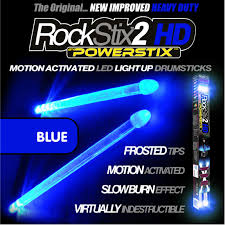 Light Up Drum Brilliant Blue Led Light Up Drum Sticks Rockstix Firestix