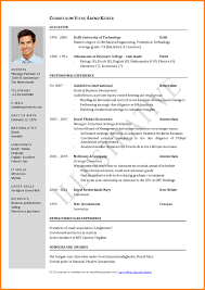 Curriculum Vitae For Job Application Resume Example Easy
