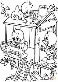 Small Picture Building A Tree House coloring page Free Printable Coloring Pages