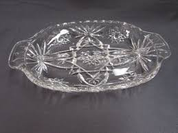 Vintage glass relish trays