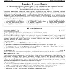 Sample Resume For Restaurant Manager Restaurant Manager Resume Musmusme 19