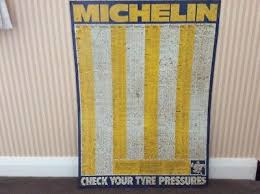 Michelin Tire Pressure Chart For Cars Vintage Michelin Tyre Pressure Chart Metal Sign 35 00