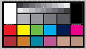 Color Calibration Chart Dgk Digital Kolor Pro 16 9 Chart Set Of 2 Large Color Calibration And Video Chip Charts 18 Gray White Balance Cards