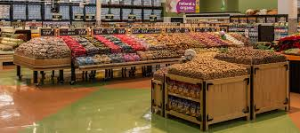 produce and grocery display bins